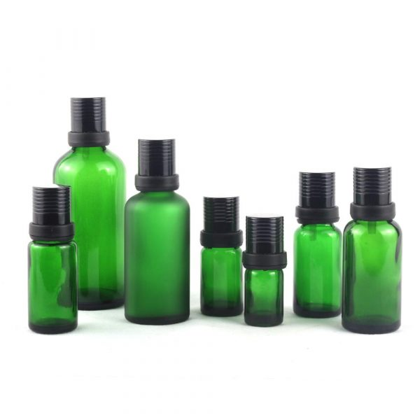 10Ml 20Ml Green Color Glass Essential Oil Bottle With Aluminum Screw Cap