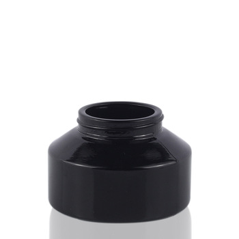 Excellent Quality 100ml cosmetic glass jar with Aluminum Lid