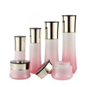 New Arrival 50G 40Ml Skin Care Packaging Black Cosmetic Glass Bottle Set